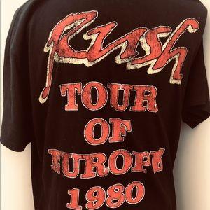 Tops - 🎸Rush Concert Shirt Europe Tour 1980 Unisex Large